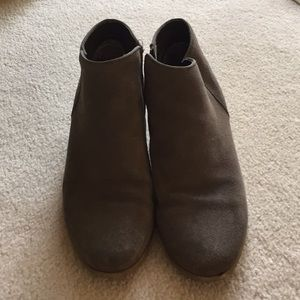 Grey booties, size 10